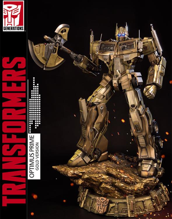 Transformers Generation 1 Premium Masterline Optimus Prime (Gold Ver.) Statue