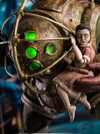 Bioshock Big Daddy & Little Sister 1/6 Scale Collectible Figure Set