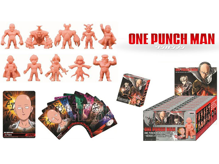 One-Punch Man Mini Figure Collection Vol  1 Heroes Vs  Villains