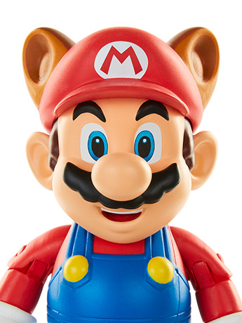"World of Nintendo 4"" Raccoon Mario Figure"