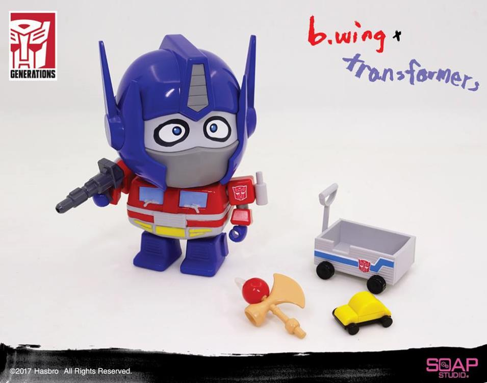 b.wing x Transformers Optimus Prime Figure
