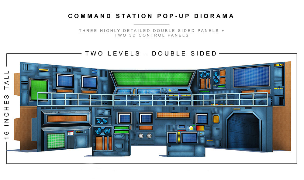 Command Station Pop Up Diorama