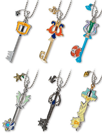 Kingdom Hearts Keyblade Collection Vol. 1 Box of 12 Keychains