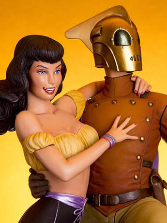 The Rocketeer & Betty Statue