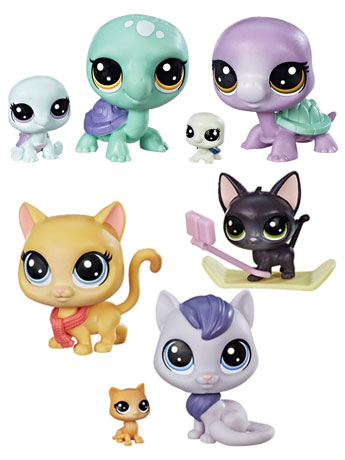 Littlest Pet Shop Pet Family Pack Wave 2 Set of 2 5-Packs