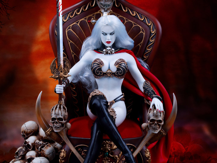 Lady Death Death S Warrior 1 6 Scale Deluxe Figure Set