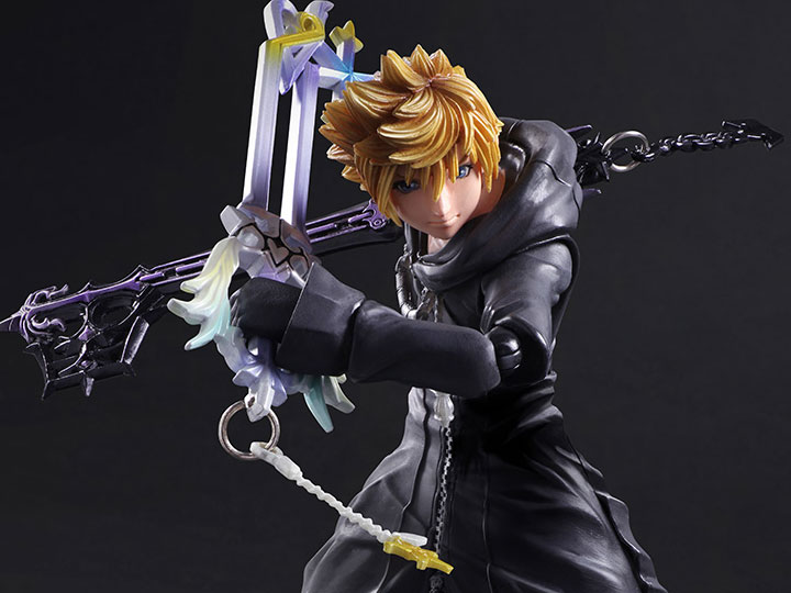 kingdom hearts play arts kai roxas organization xiii version