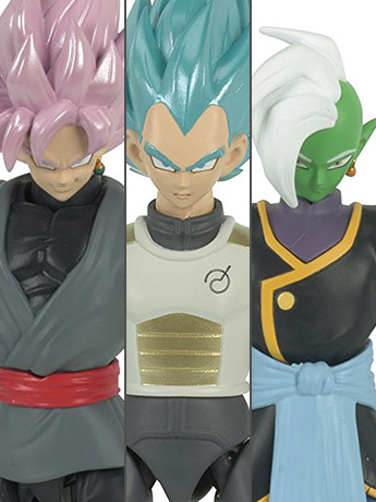 Dragon Ball Super Dragon Stars Figure Wave D Set of 3 with Fusion Zamasu Components