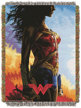 Wonder Woman Classy Warrior Woven Tapestry Throw Blanket