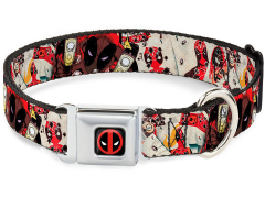 Marvel Deadpool (Shooting Targets) SeatBelt Buckle Dog Collar