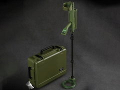 Vallon VMH4 Metal Detector With Hard Case (Olive Drab) 1/6 Scale Accessory Set