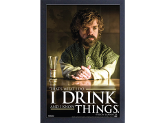Game of Thrones Tyrion Quote Framed Art Print