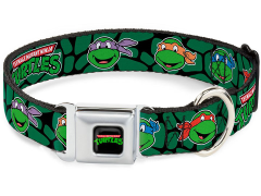 TMNT Turtle Faces (Classic) SeatBelt Buckle Dog Collar
