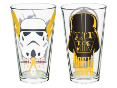Star Wars Darth Vader and Stormtrooper Pint Glass Set of 2