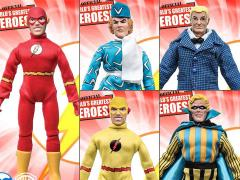 "DC World's Greatest Heroes The Flash Series 1 Retro 8"" Figures Set of 5"
