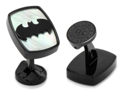 DC Comics Batman Stainless Steel Mother of Pearl Cufflinks