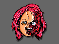 Child's Play Chucky Slashed Enamel Pin