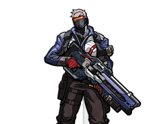 Overwatch FigPin Soldier: 76
