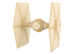 Star Wars Tie Fighter 3D Wood Model Kit