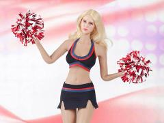 Cheerleading Uniform (Black) Accessory Set