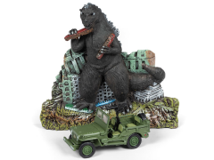 Godzilla Ground Assault With 1/64 Scale Willys MB Jeep