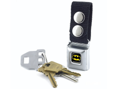 DC Comics Batman Logo SeatBelt Buckle Keychain