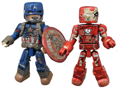 Marvel Minimates Wave 67 Captain America: Civil War Captain America & Iron Man