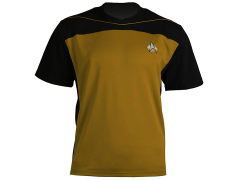 Star Trek: The Next Generation Shore Leave Collection Uniform Shirt (Operations Gold)