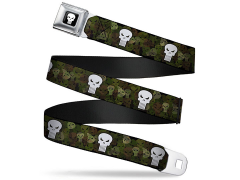 Marvel Punisher (Camo Logo) SeatBelt Buckle Belt