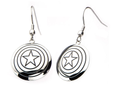 Marvel Captain America Shield Hook Dangle Earrings