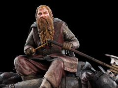Lord of the Rings Gimli The Dwarf on Uruk-Hai 43 Mini Statue