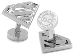 DC Comics Superman Logo Stainless Steel Cufflinks