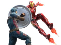 Captain America: Civil War Premium Motion Statue Captain America v. Iron Man