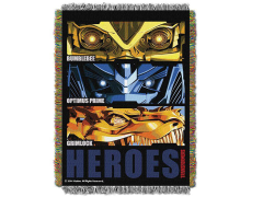 Transformers: Age of Extinction Heroes Woven Tapestry Throw Blanket