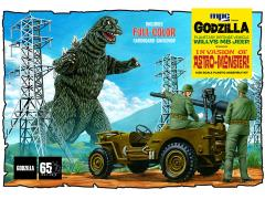 Invasion of Astro-Monster Willys MB Jeep 1/25 Scale Model Kit