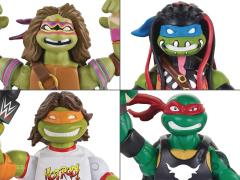 TMNT WWE Crossover Collector Figure - Case of 4