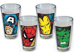 Marvel Close-Up Pint Glass Four Pack