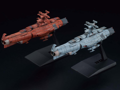 Space Battleship Yamato Mecha Collection UNCF D Class & Mars-Earth Defense Line Model Kit Two-Pack