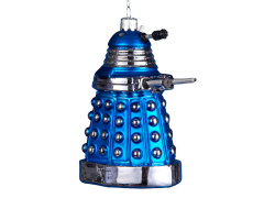 Doctor Who Blue Dalek Glass Ornament