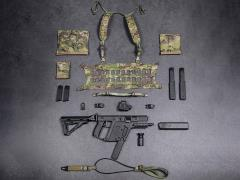 Elite Firearms Series 3 1/6 Scale Vector Submachine Gun Set (Black & Camo)