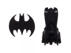 DC Comics Batman Logo & Batmobile Pins Set of 2