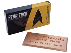 Star Trek Dedication Plaque #1 - USS Enterprise NCC-1701