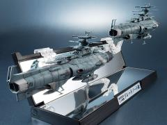 Space Battleship Yamato Kikan Taizen U.N.C.F. D-1 Dreadnought 1/2000 Scale Two Ship Set