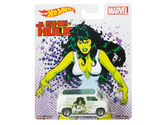 Marvel Hot Wheels 1:64 Real Riders She-Hulk Custom 1977 Dodge Van