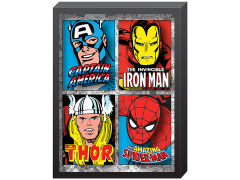 Marvel Comic 4-Panel Printed Glass Art