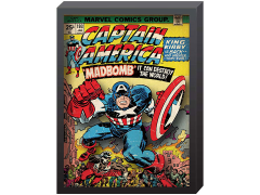 Marvel Captain America Comic Cover Printed Glass Art