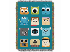 Pixar Character Icons Woven Tapestry Throw Blanket