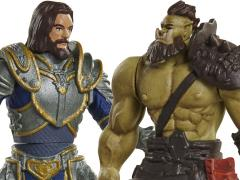 Warcraft Mini Figure Two Pack Wave 01 - Lothar Vs Horde Warrior