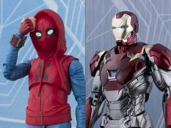 Spider-Man: Homecoming S.H.Figuarts Spider-Man (Homemade Suit Ver.) & Iron Man (Mark XLVII) Exclusive