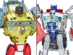 Transformers: Age of Extinction Silver Knight Optimus Prime & Grimlock Two Pack